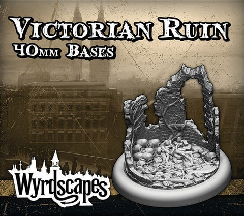 Malifaux -Victorian Ruin Bases 40mm
