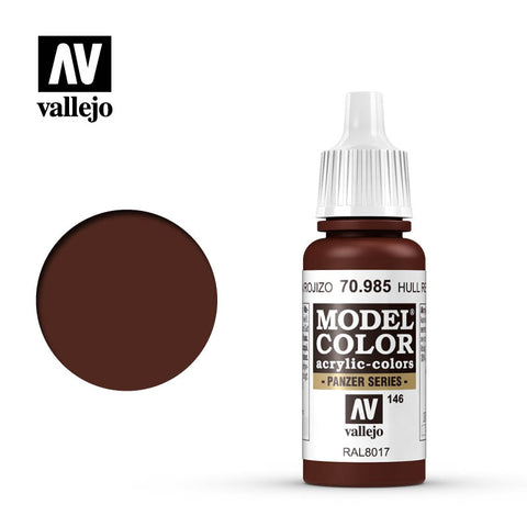 Vallejo Model Colour - 985 Hull Red 17ml