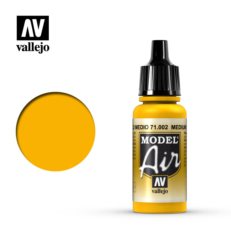 Vallejo Model Air - 002 Medium Yellow 17ml