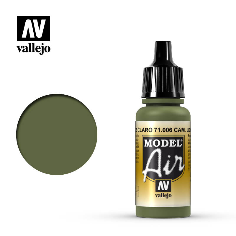 Vallejo Model Air - 006 Camouflage Light Green 17ml