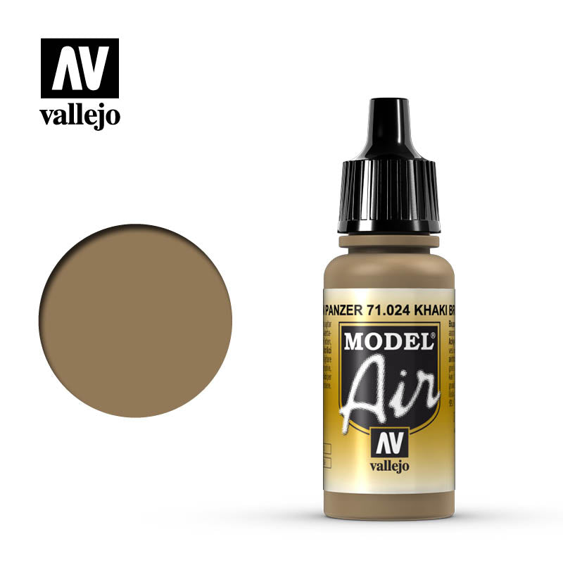 Vallejo Model Air - 024 Khaki Brown 17ml