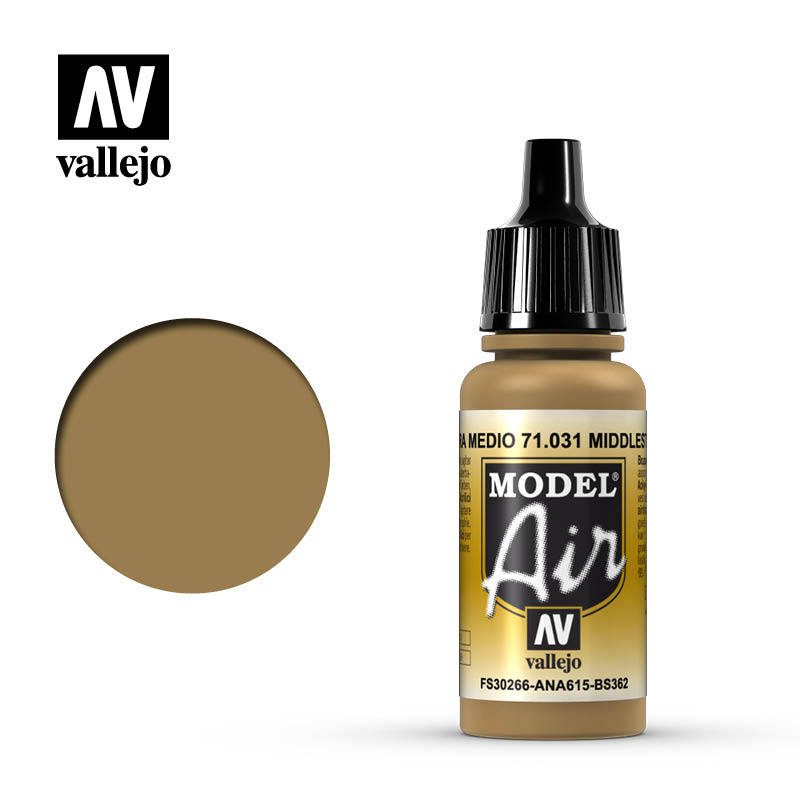 Vallejo Model Air - 031 Middle Stone 17ml