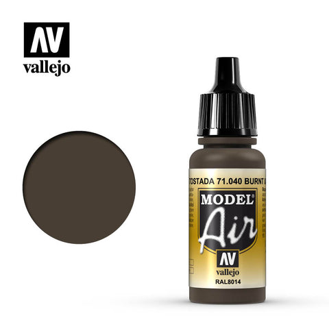 Vallejo Model Air - 040 Burnt Umber 17ml