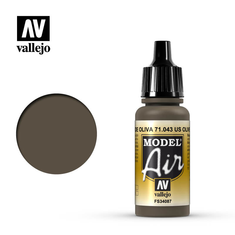 Vallejo Model Air - 043 Olive Drab 17ml