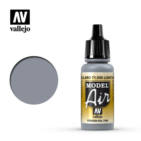 Vallejo Model Air - 050 Light Grey 17ml