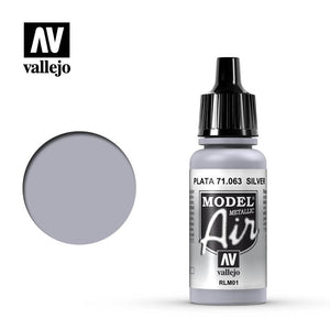 Vallejo Model Air - 063 Silver Metallic 17ml