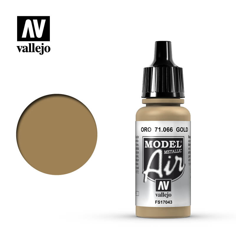 Vallejo Model Air - 066 Gold Metallic 17ml