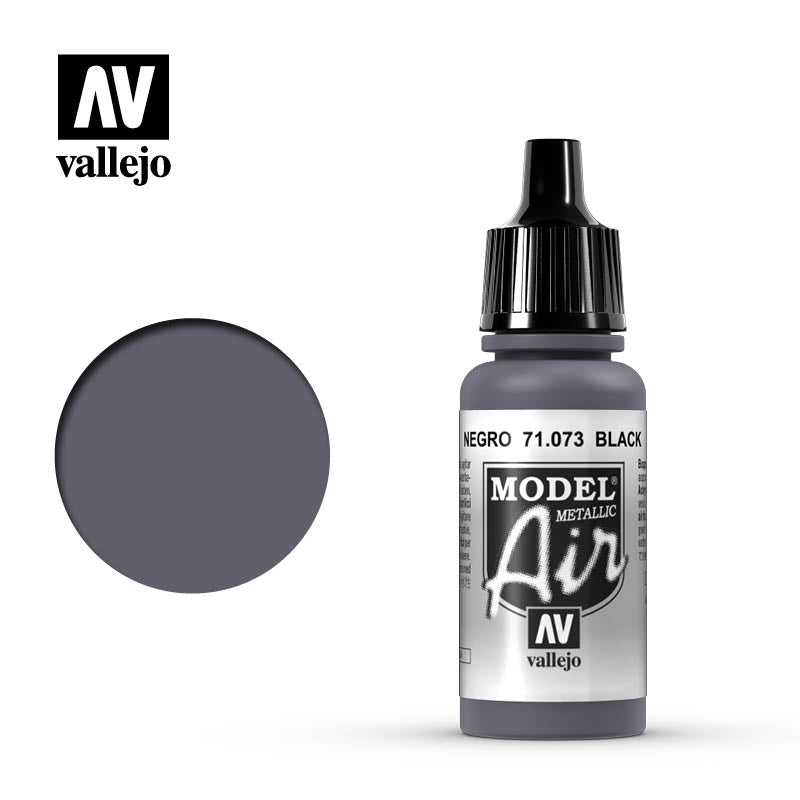 Vallejo Model Air - 073 Black Metallic 17ml