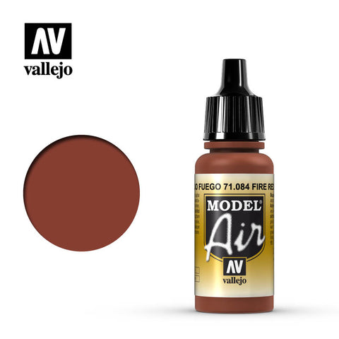 Vallejo Model Air - 084 Fire Red 17ml