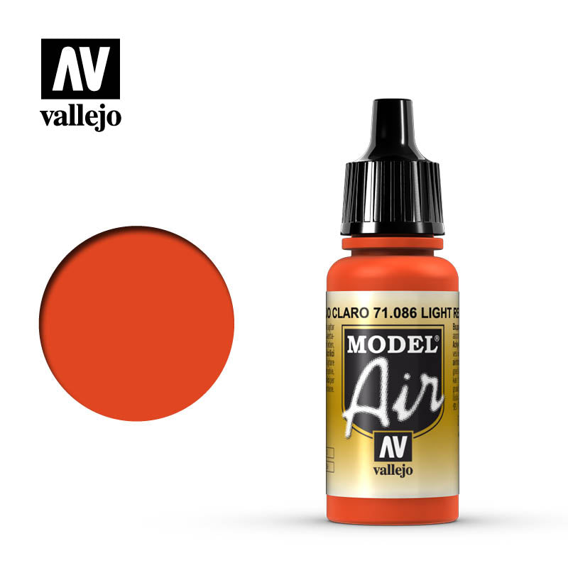 Vallejo Model Air - 086 Light Red 17ml