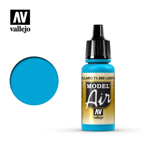 Vallejo Model Air - 089 Light Sea Blue 17ml