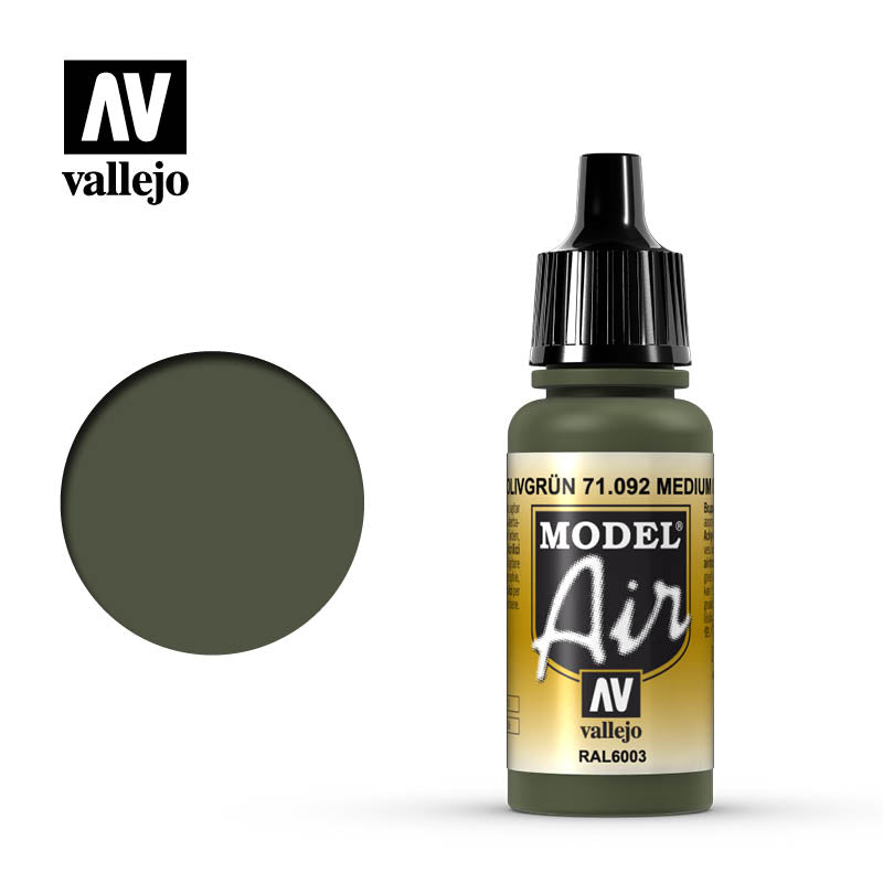 Vallejo Model Air - 092 Medium Olive 17ml