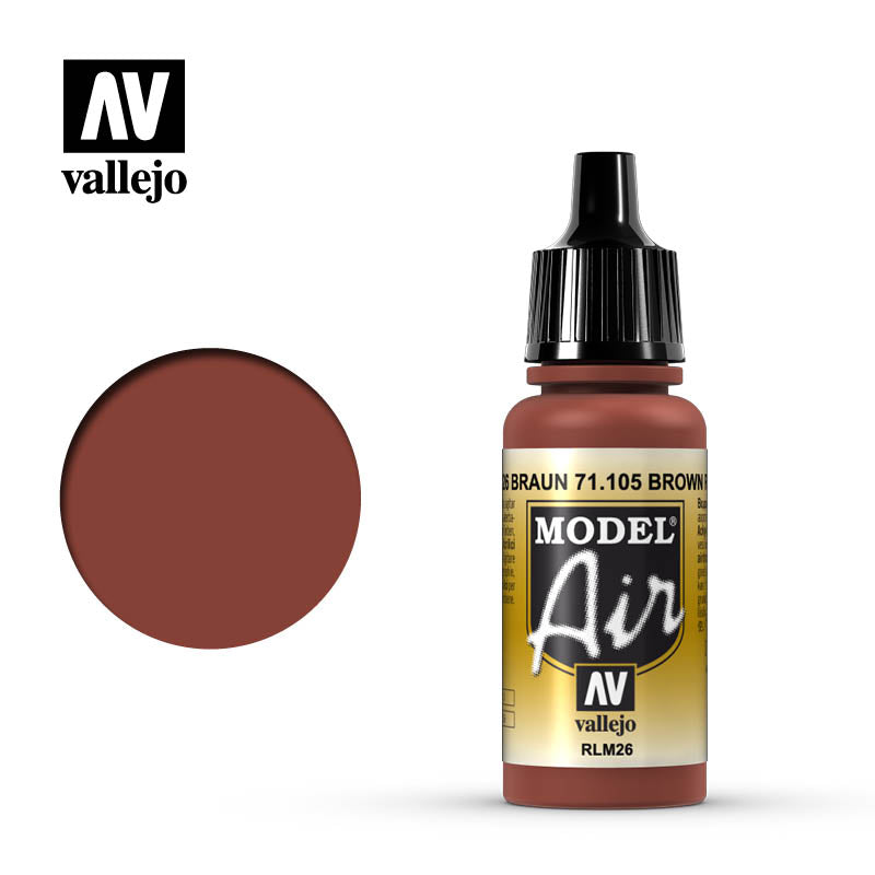 Vallejo Model Air - 105 Brown RLM26 17ml