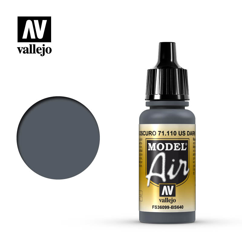 Vallejo Model Air - 110 UK Extra Dark Sea Grey 17ml