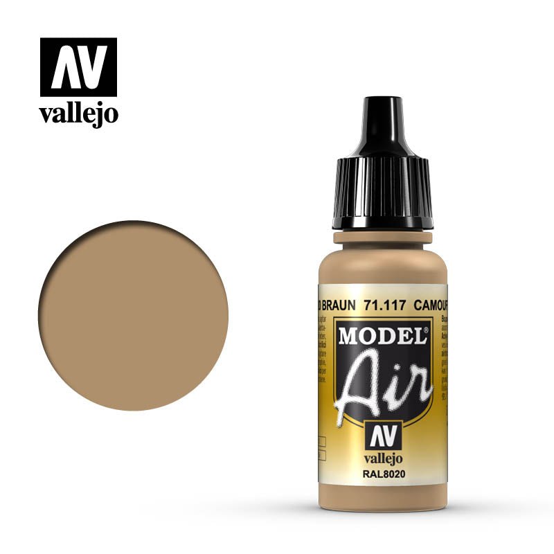 Vallejo Model Air - 117 Camouflage Brown 17ml