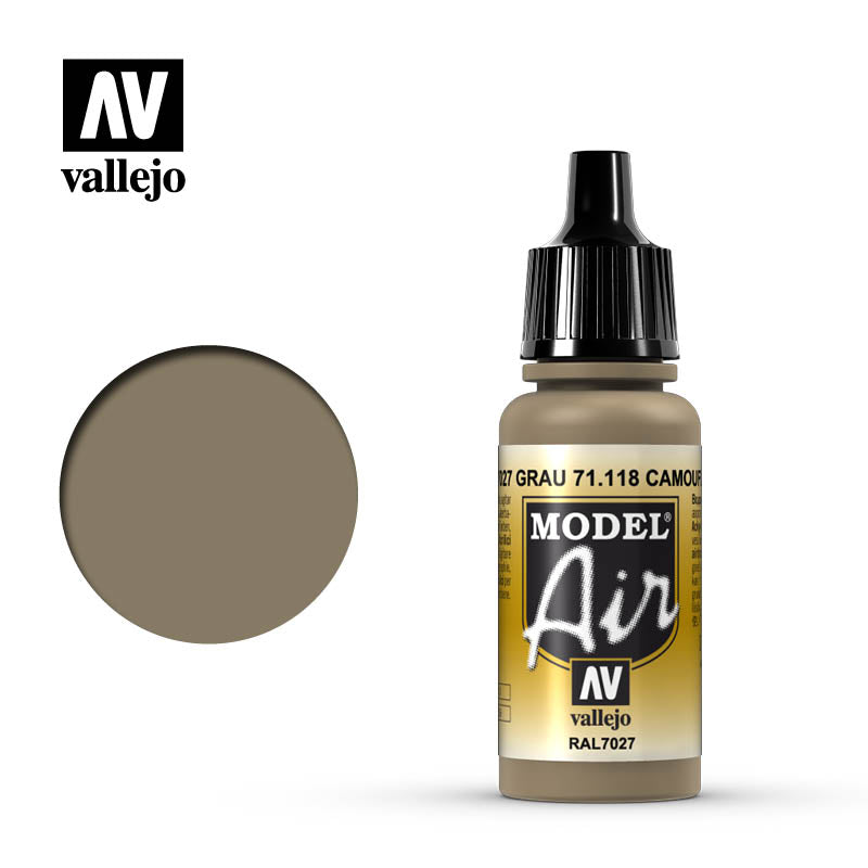 Vallejo Model Air - 118 Camouflage Grey 17ml