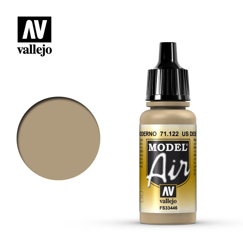 Vallejo Model Air - 122 Desert Tan 686 17ml