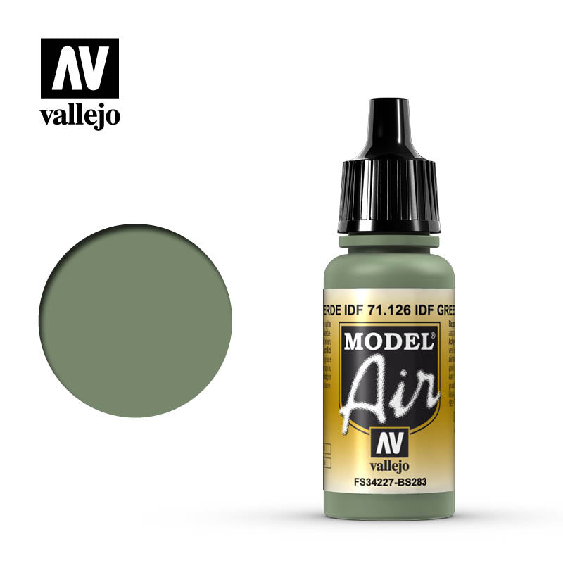 Vallejo Model Air - 126 IDF Green 17ml