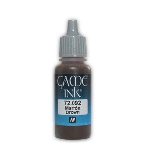 Vallejo Game Ink - 092 Brown 17ml