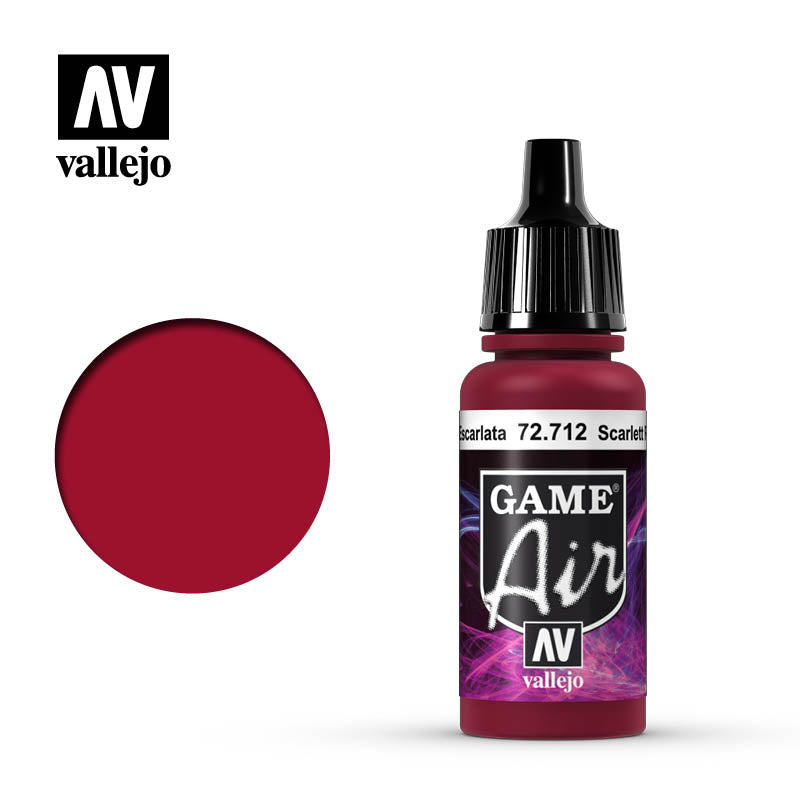Vallejo Game Air - 712 Scarlett Red 17ml