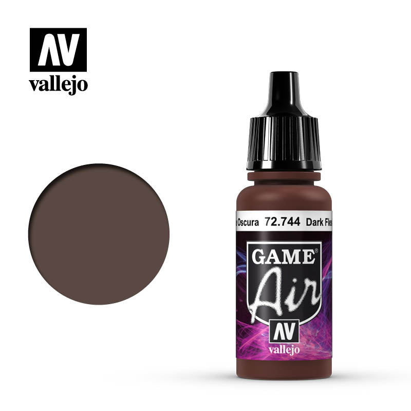 Vallejo Game Air - 744 Dark Fleshtone 17ml