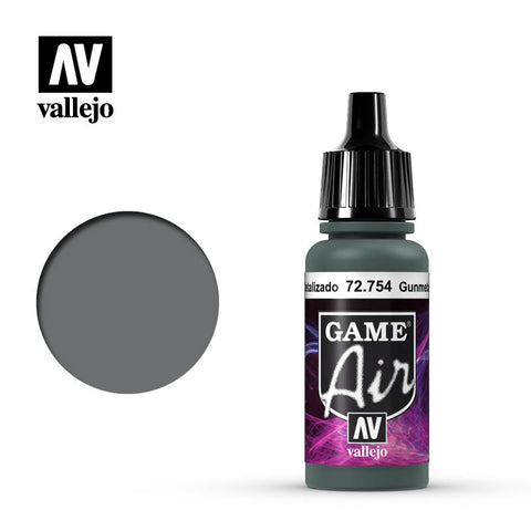 Vallejo Game Air - 754 Gunmetal 17ml
