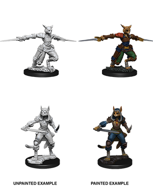 D&D Minatures Tabaxi Rogue Female