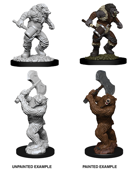 D&D Miniatures Wereboar and Werebear