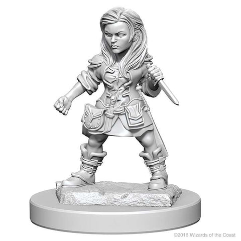 D&D - Unpainted Miniatures Halfling Rogue Female