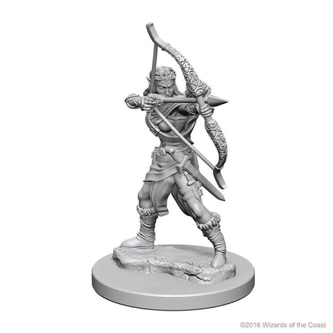 D&D - Unpainted Miniatures Elf Ranger Female
