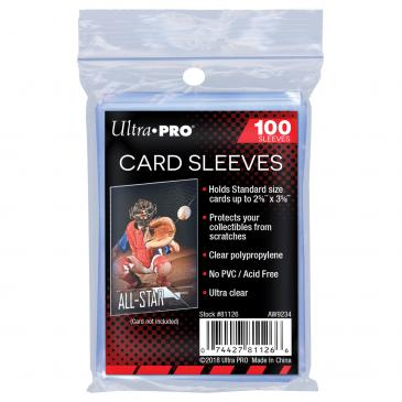 "Ultra Pro 2 5/8"" x 3 5/8"" Clear Penny Protector Soft Card Sleeves 100 Pack"