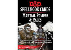 D&D Spellbook Cards Martial Powers and Races Revised 2017 Edition