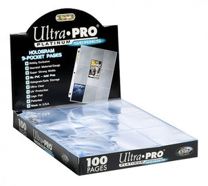 Ultra Pro Hologram 9 Pocket Pages 100 Pack