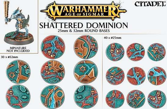 Age of Sigmar - Shattered Dominion 25mm and 32mm Round Bases