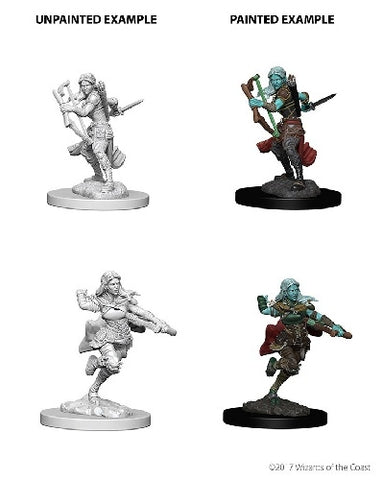 D&D - Unpainted Miniatures Air Genasi Rogue Female
