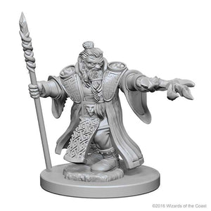 D&D - Unpainted Miniatures Male Dwarf Wizards
