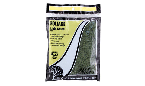 Woodland Scenics Foliage Light Green F51