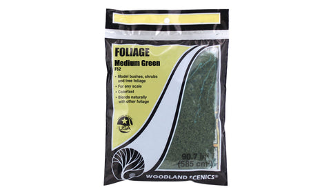 Woodland Scenics Foliage Medium Green F52