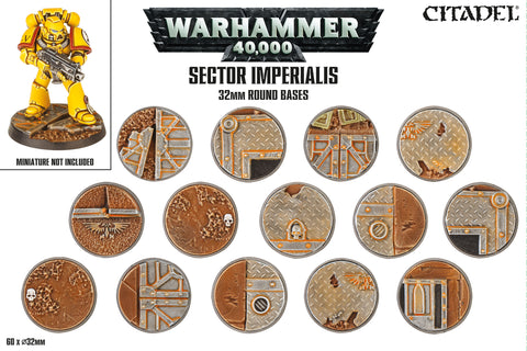 Warhammer 40000 - Sector Imperialis 32mm Round Bases
