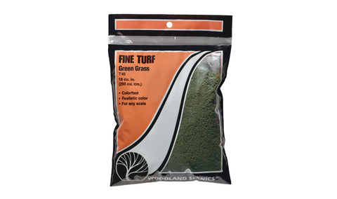 Woodland Scenics Fine Turf Green Grass T45