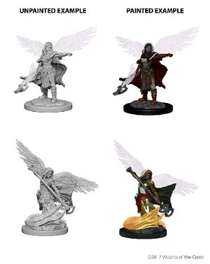 D&D - Unpainted Miniatures Aasimar Wizard Female