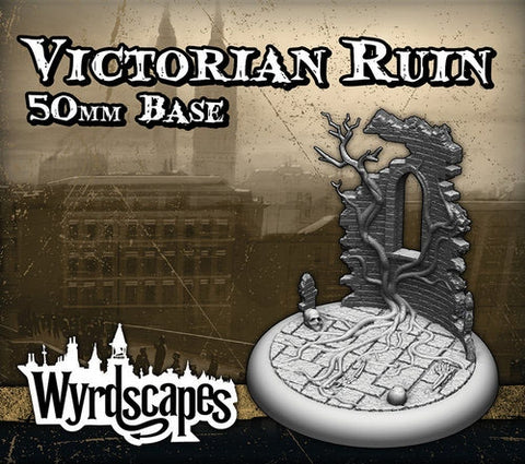 Malifaux -Victorian Ruin Bases 50mm