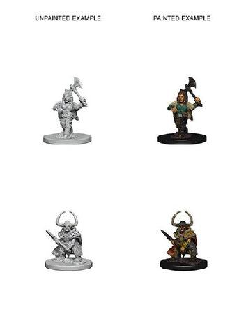 D&D - Unpainted Miniatures Dwarf Barbarian Female
