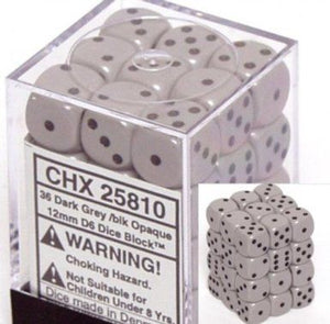 Grey/Black 12mm D6 Dice CHX25810
