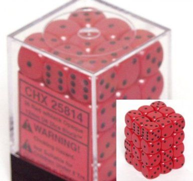 Red/Black 12mm D6 Dice CHX25814