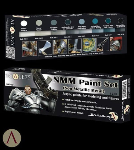 Scale 75 Scalecolor NMM Steel Paint Set