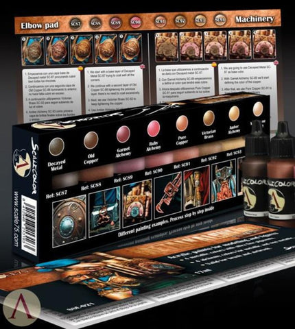 Scale 75 Scalecolor Metal n' Alchemy Copper Series Paint Set
