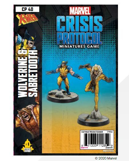 Marvel Crisis Protocol Wolverine and Sabretooth