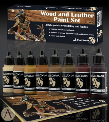 Scale 75 Scalecolor Wood and Leather Paint Set