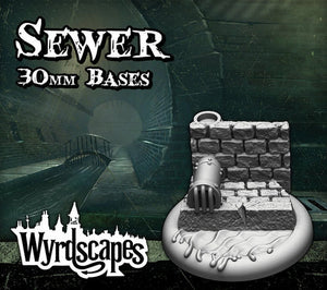 Malifaux -Sewer Bases 30mm